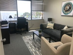 Counseling office, comfy chairs | Tampa Office | Wellness Psychological | Therapy Services | Florida